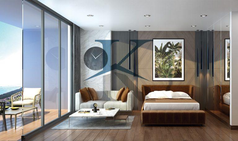 واحد استودیو پروژه هتل مسکونی