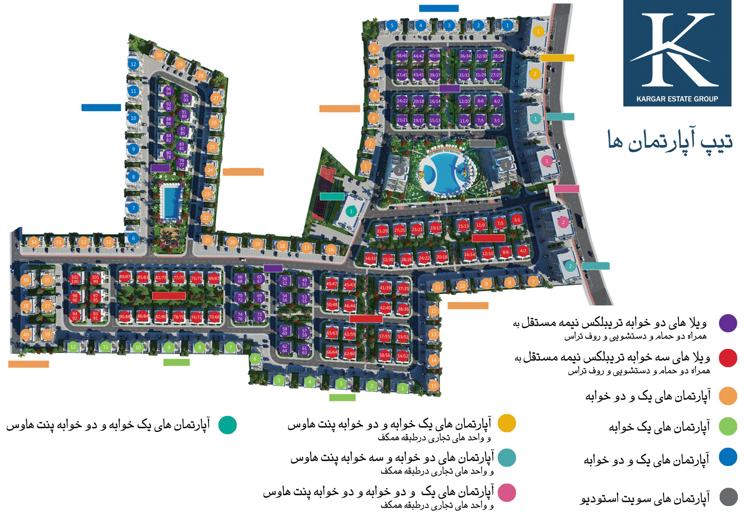 پلان کل پروژه شهرک مدرن